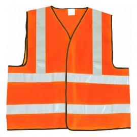 Gilet de sécurité à fermeture AG HV Classe 2 - Gamme Haute Visibilité - SECURITE - ORANGE FLUO - 500582 - LMA Lebeurre