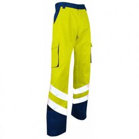 Pantalon HV bicolore zéro métal Classe 2 - Gamme Haute Visibilité - PROTECTION - MARINE-JAUNE FLUO - 1563 - LMA Lebeurre