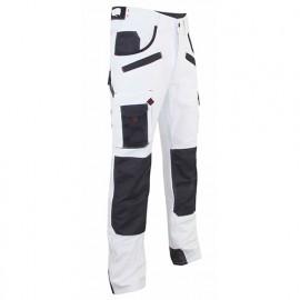 Pantalon artisan peintre avec poches genouillères - Gamme Peinture - AEROSOL - BLANC-GRIS NUIT - 1443 - LMA Lebeurre