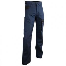 Pantalon de travail bicolore multipoches - Gamme Dynamics - ETINCELLE - BLEU FONCE-NOIR - 1498 - LMA Lebeurre