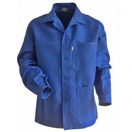 Veste coton fermeture à bouton et col chevalière - Gamme Incontournable - PLANTOIR - BLEU BUGATTI - 200241 - LMA Lebeurre