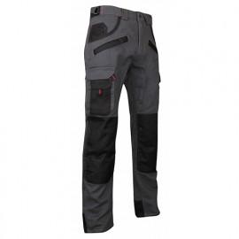 Pantalon de travail bicolore avec poches genouillères - Gamme Dynamics - ARGILE - GRIS NUIT-NOIR - 1261 - LMA Lebeurre