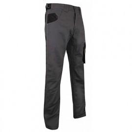Pantalon de travail bicolore multipoches - Gamme Dynamics - CIMENT - GRIS NUIT-NOIR - 1266 - LMA Lebeurre