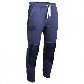 Pantalon de travail bicolore moletton 320 Gr - Gamme Dynamics - TECHNO - GRIS-NOIR - 1601 - LMA Lebeurre