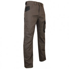 Pantalon de travail Spécial Paysagiste bicolore multipoches - Gamme Dynamics - TERREAU - TAUPE-NOIR - 1490 - LMA Lebeurre