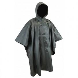 Poncho de pluie enduction PVC imperméable - Gamme Medium Pluie - CLIMAT - KAKI FONCE - 2093 - LMA Lebeurre