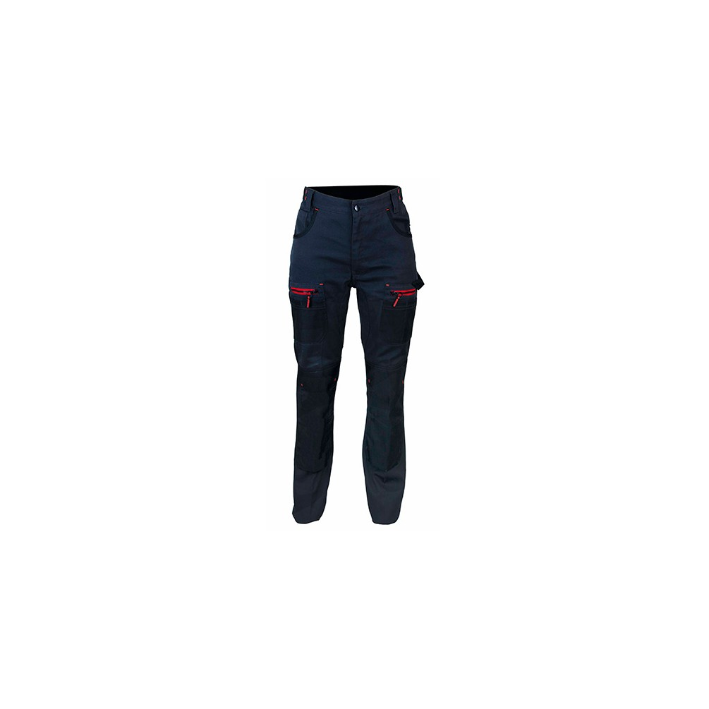 Pantalon de Travail Bicolore Gris//Noir
