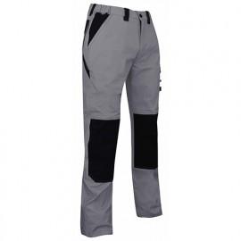 Pantalon de travail Ripstop bicolore 185 Gr - Gamme été - PLUTON - GRIS-NOIR - 1454 - LMA Lebeurre