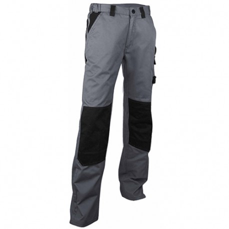 Pantalon de travail bicolore avec poches genouillères - Gamme Pratic - PLOMB - GRIS - 130300 - LMA Lebeurre