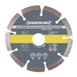 """Disque diamant segmenté """"PRO"""" D. 450 x 25,4 x 11 mm pour béton et matériaux - 675215 - Silverline"""