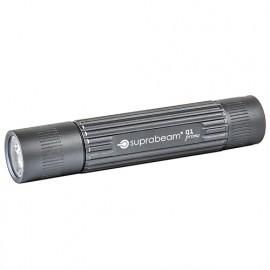 Mini lampe de poche à LED gris 90 Lumens IPX4 avec torche à micro-énergie - Portée 60 m - Q1 prime - 501.1005 - Suprabeam