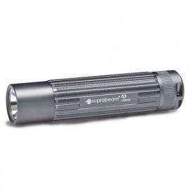 Lampe de poche à LED grise 330 Lumens IPX8 avec mise au point fixe - Portée 210 m - Q3 classic - 503.1508 - Suprabeam