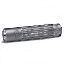Lampe de poche à LED grise 380 Lumens avec mise au point coulissante et commutateur - Portée 230 m - Q3 - 503.1008 - Suprabeam