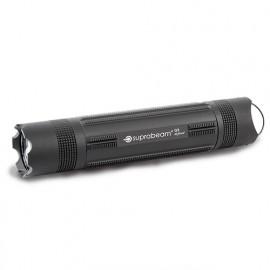 Lampe de poche à LED noire 280 Lumens IP68 avec inter. tactique d'extrémité - Portée 210 m - Q3 defend - 503.4008 - Suprabeam