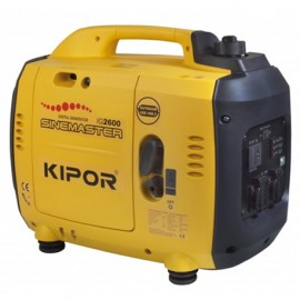 Groupe électrogène thermique Inverter 2300W 2 x 230V moteur essence 4 temps 3300W - Kipor Sinemaster IG2600 - 441437 - Eurom