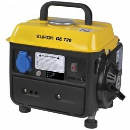 Groupe électrogène thermique 650W 1 x 230V moteur essence 2 temps 1600W - GE720 portable - 441611 - Eurom