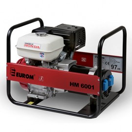 Groupe électrogène thermique 4200W 2 x 230V moteur essence 4 temps 6300W Honda GX270 - HM6001 - 449068 - Eurom