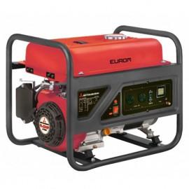 Groupe électrogène thermique AVR 2500W 2 x 230V moteur essence 4 temps 4410W Mitsubishi GT 600 - MM3500 - 449235 - Eurom