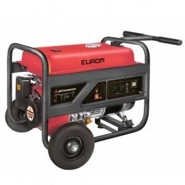 Groupe électrogène thermique AVR 5000W 2 x 230V moteur essence 4 temps 9600W Mitsubishi GT 1300 - MM6500 - 449266 - Eurom