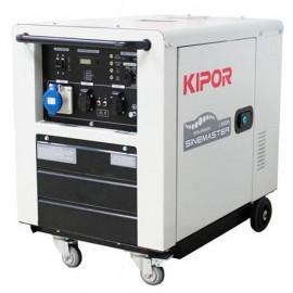 Groupe électrogène thermique Inverter 5000W 2 x 230V + 1 x CEE moteur Diesel 6300W - Kipor ID 6000 - 450026 - Eurom