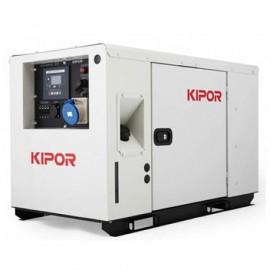 Groupe électrogène thermique Inverter 9500W 2 x 230V + 1 x CEE moteur Diesel 13 300W - Kipor ID 10 - 450040 - Eurom