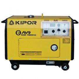Groupe électrogène thermique AVR 5200W 1 x 230V + 1 x CEE moteur Diesel 6600W - Kipor KDE7500TD - 452792 - Eurom