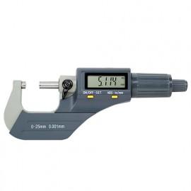 Micromètre digital LCD de 0 à 25 mm x 0.001 mm - 106298 - D-Work