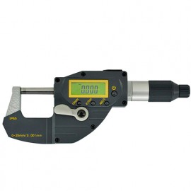 Micromètre dépl. Rapide - digital - étanche IP-65 0-25mm à piston - 106495 - D-Work