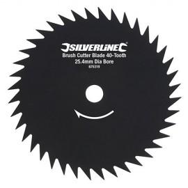 Lame pour débroussailleuse D. 240 x 25,4 mm x Z : 40 - 675319 - Silverline