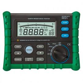 Testeur mesureur de mise à la terre. LCD rétro-éclairé - TES302 - D-Work
