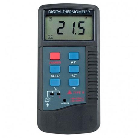 Thermomètre LCD plus Sondes K et Rigide - XTT585 - D-Work