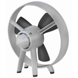 Ventilateur D. 20 cm ouvert à pales en caoutchouc 230V 18W - Safe blade fan - 385052 - Eurom