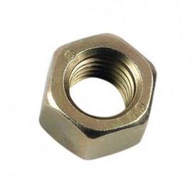 5 écrous hexagonaux HU M33 - Zingué bichromaté - 020833CR3B