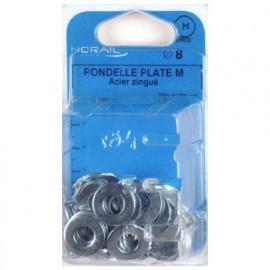 Blister de 200 rondelles plates type moyenne M4 - Zingué - 42000402CP200