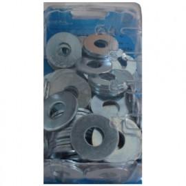 Blister de 100 rondelles plates type large M8 - Zingué - 43000802BCP100