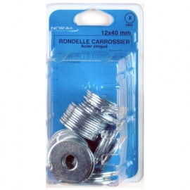 Blister de 25 rondelles carrossier 14 x 45 mm - Zingué - 44001402CP25