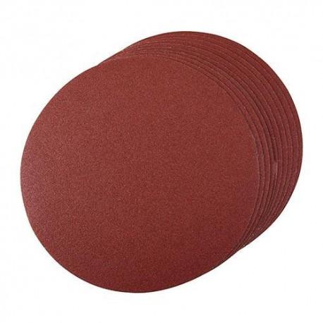 10 disques abrasifs non-perforés auto-agrippants D. 250 mm Grain 60 - 704411 - Silverline
