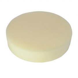 Éponge de polissage blanche D. 150 x 38 mm auto-agrippante très tendre - 711199 - Silverline