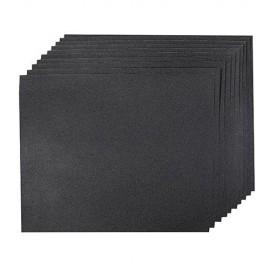 10 feuilles abrasives imperméables pour ponçage à main, sec ou humide 230 x 280 mm Grain 120 - 712247 - Silverline