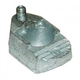 Crapaud de fixation réglable plein M12 - Galvanisé - BE2G12