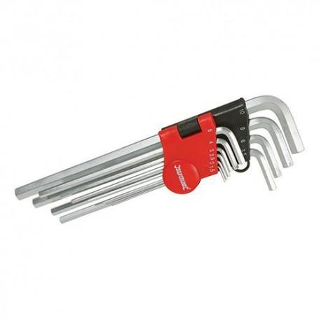 Assortiment de 10 clés 6 pans Expert de 1,5 à 10 mm - 719784 - Silverline