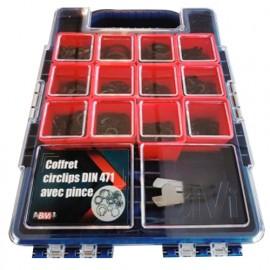 Coffret de 800 circlips DIN 471 avec pince - Brut - COFCIRCLIPSV2