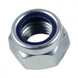 50 écrous frein indésserrable bague nylon M8 mm - Inox A2 - EIND08A2B50