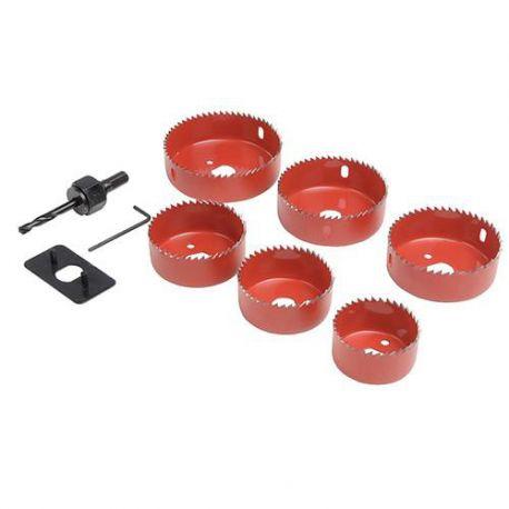 Coffret 6 trépans bi-métal ø 50, 60, 65, 72, 75 et 86 mm