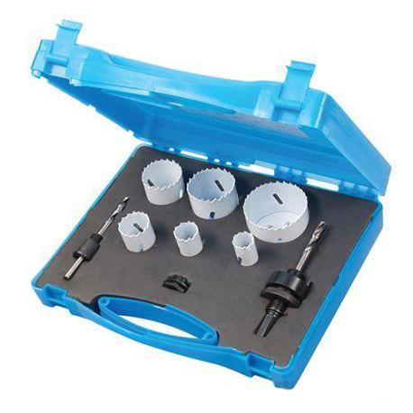 Coffret 6 trépans bi-métal ø 19, 22, 29, 38, 44 et 57 mm ( Spécial plombier)