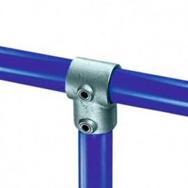 Raccord KEE KLAMP 10-7 en T 90° pour tubes D. 42,4 mm - Galvanisé - KEE10-7