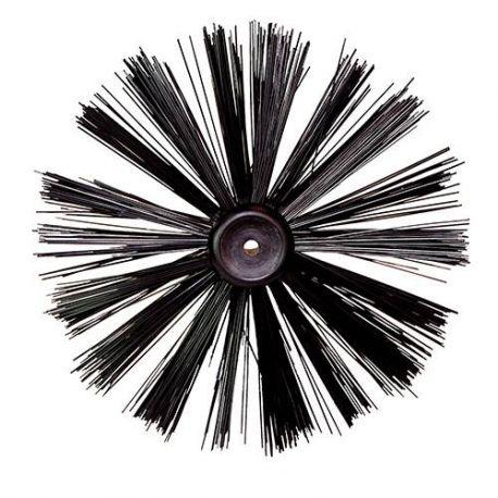Brosse à suie D. 250 mm pour canne de ramonage / curage - 630077 - Silverline
