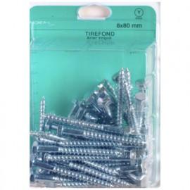 Blister de 50 tirefonds tête hexagonale 6 x 60 mm - Zingué - TIR0606002CP50