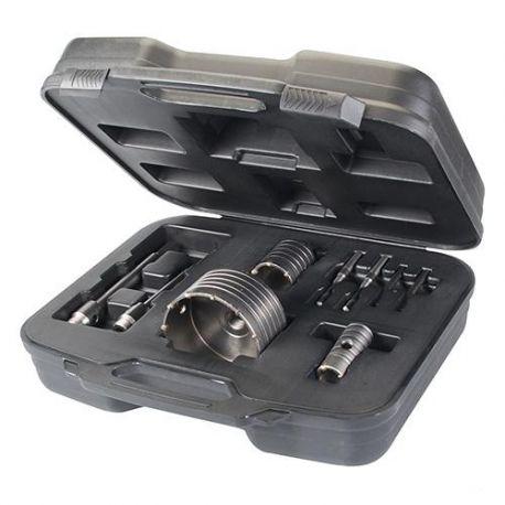 Coffret 3 trépans béton D. 30, 50 et 110 mm