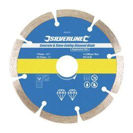 Disque diamant segmenté D. 125 x 22,23 x 7 mm pour béton et matériaux